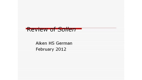 Thumbnail for entry Aiken HS German - Review of Ein and Kein