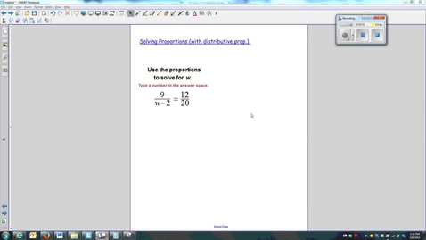 Thumbnail for entry 02-Solving Proportions (with distributive prop.)-W7_Q4-Q5