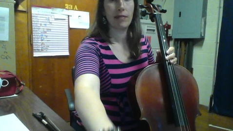 Thumbnail for entry Saccomano Cello Lesson #1 Week of October 5, 2020