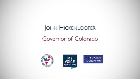 Thumbnail for entry My Voice NSME 2012 PSA: John Hickenlooper, Governor of Colorado
