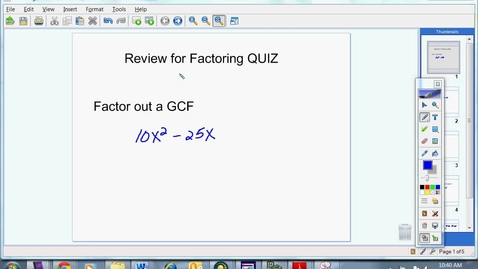 Thumbnail for entry Factoring Review