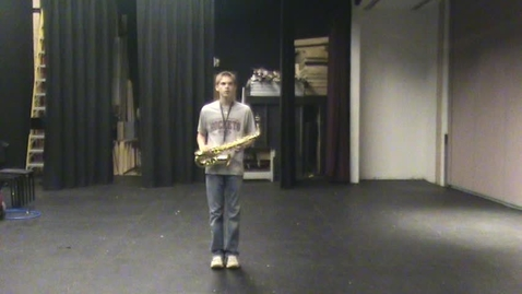Thumbnail for entry Scott Menefee Alto Sax Audition (Marching - Front View) AAMB 2009