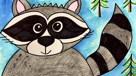 Thumbnail for entry Chester the Raccoon Drawing