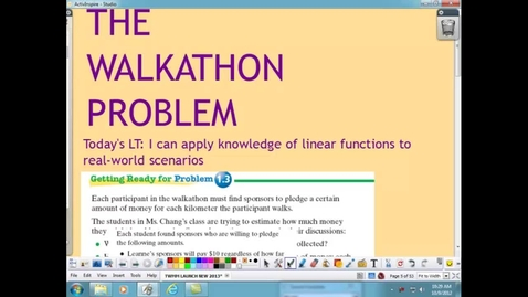 Thumbnail for entry WALKATHON PROBLEM