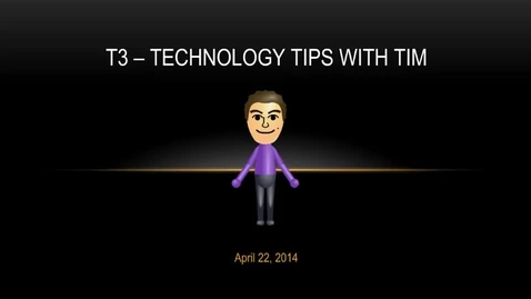 Thumbnail for entry T3 Video - April 22, 2014
