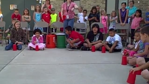 Thumbnail for entry 9:00 a.m. performance (part 3) of Bucket Drumming - Rock Ledge Summer School 2015
