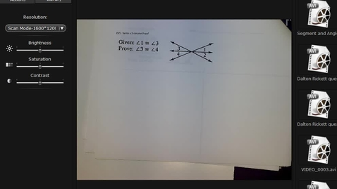 Thumbnail for entry End of Angle Proofs; Beginning Parallelism