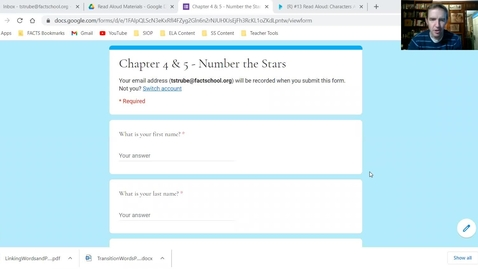 Thumbnail for entry Number the Stars Read Aloud - Chapters 4 and 5