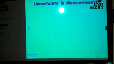 Thumbnail for entry Unit 1 Accuracy and Precision February 10, 2014