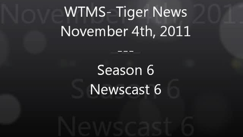 Thumbnail for entry WTMS-Tigers News 11.04.11