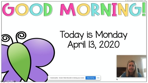 Thumbnail for entry Morning Meeting April 13