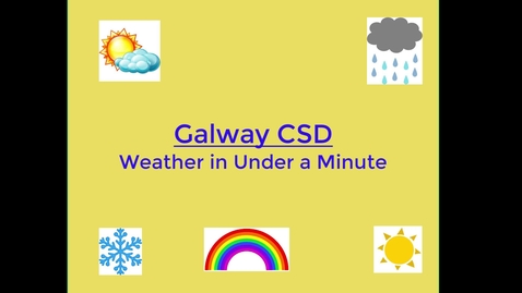 Thumbnail for entry Galway CSD Weather in Under a Minute