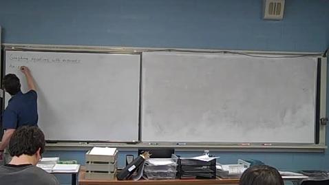 Thumbnail for entry Algebra 2/16/11