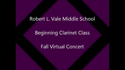 Thumbnail for entry 2012-2013 Beg. Clarinet Class Fall Concert