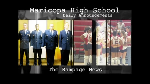 Thumbnail for entry October 19, 2012 - Daily Announcements