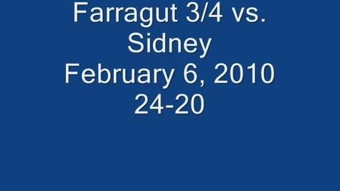 Thumbnail for entry Farragut 2/3/4 Grade vs. Sidney