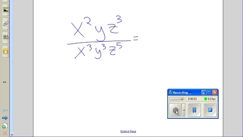Thumbnail for entry Dividing terms with exponents example 3
