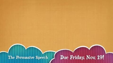 Thumbnail for entry The Persuasive Speech