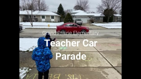 Thumbnail for entry Teachers' car parade lifts students' spirits during mandated closure, 03.23.2020