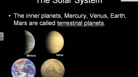 Thumbnail for entry Solar System Data- Earth Science Reference Tables