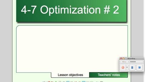 Thumbnail for entry 4-7 Optimization # 2