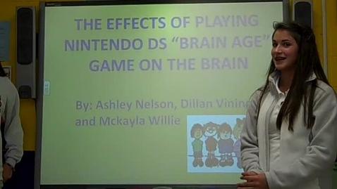 Thumbnail for entry Student presentations for Nintendo DS Experiment sixth hour