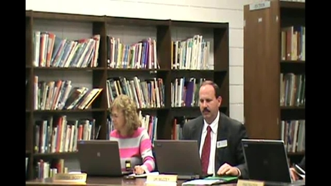 Thumbnail for entry School Board Meeting October 11th 2012