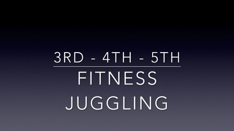 Thumbnail for entry 3-4-5 PE Lesson 4:6:2020 - Fitness Juggling