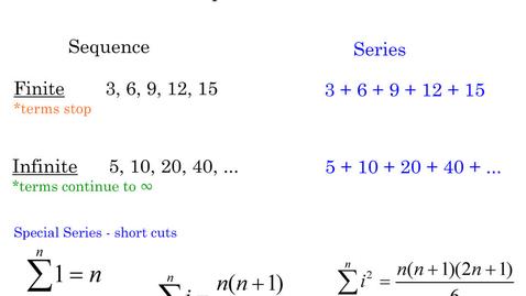 Thumbnail for entry 11.1 Algebra II Notes