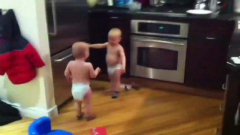 Thumbnail for entry Twin babies having a conversation Funny. Cute babies talking to each other very funny HD