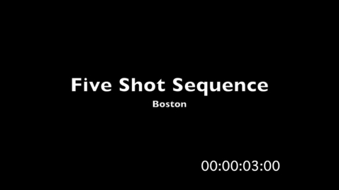 Thumbnail for entry Five Shot Sequence