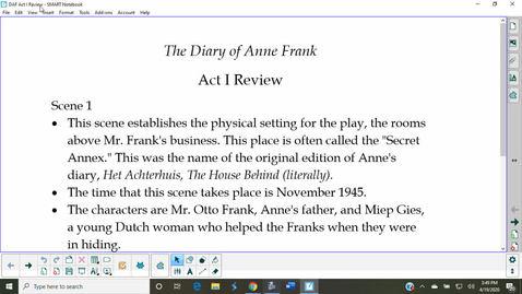 Thumbnail for entry The Diary of Anne Frank, Act I Review