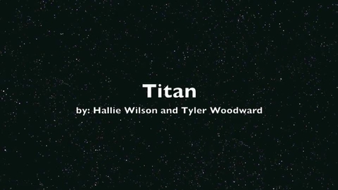 Thumbnail for entry Titan by Hallie Wilson and Tyler Woodward