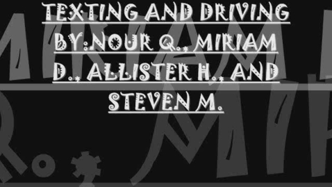 Thumbnail for entry Stop Texting While Driving
