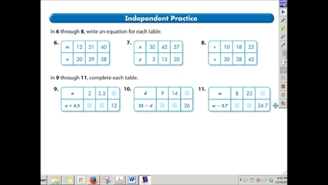 Thumbnail for entry Finding Patterns &  Equations from a Table of Data