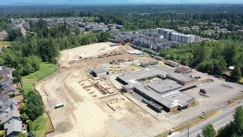Thumbnail for entry Lea Hill Drone Footage Site Progress July 2021