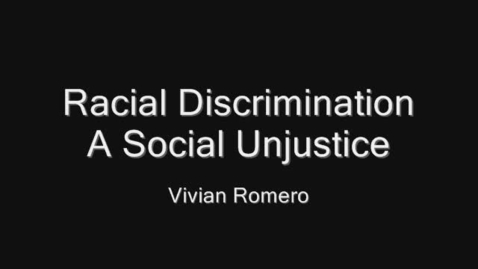 Thumbnail for entry Racial Discrimination
