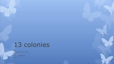 Thumbnail for entry KS 13 Colonys