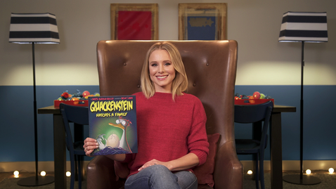 Thumbnail for entry Quackenstein Hatches a Family read by Kristen Bell
