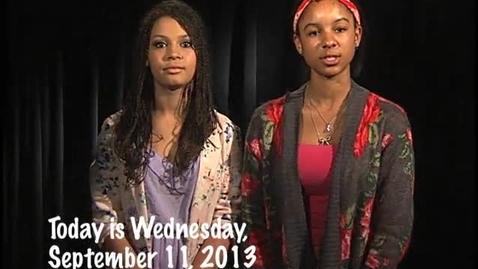 Thumbnail for entry Wednesday, September 11, 2013