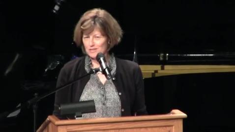 Thumbnail for entry Ladue High School - 2012 Distinguished Alumni, Ellen Sherberg