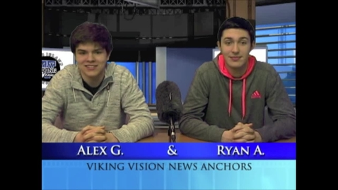 Thumbnail for entry Viking Vision News Thurs 2-26-2015