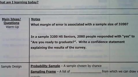 Thumbnail for entry 08 - Guided Notes - Sampling Errors