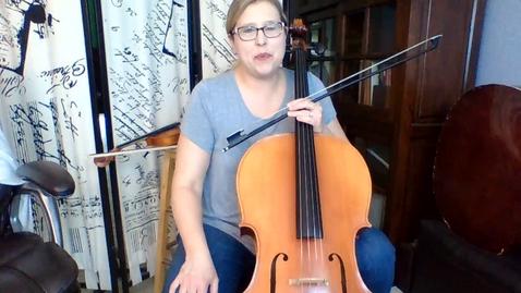 Thumbnail for entry 6th Gr Cello Week 6 STring Basics pg 36-37