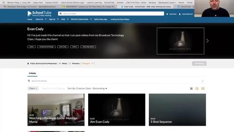 Thumbnail for entry SchoolTube Channels - Public Student Video Portfolio