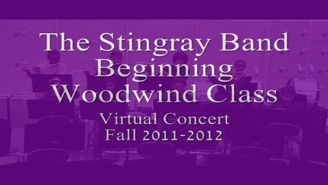 Thumbnail for entry 1st period Vale MS Beg. Woodwind Class