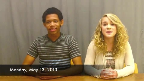 Thumbnail for entry BHS Newscaster for May 13, 2013: Season 4, Episode 13