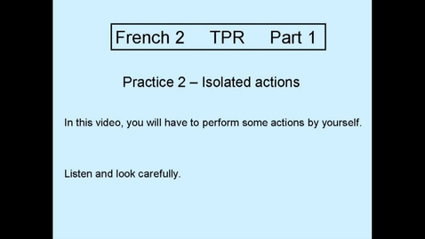 Thumbnail for entry TPR L2 Part 1 Practice 2
