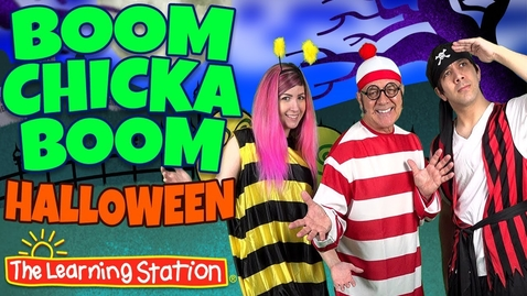 Thumbnail for entry Boom Chicka Boom Halloween Song 👻 Halloween Dance Songs for Kids 👻 by The Learning Station