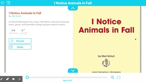 Thumbnail for entry I notice Animals in the Fall